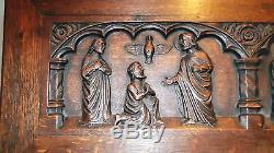 1650 ANTIQUE CARVED LIFE OF JESUS CHRIST SECRETARY DESK Bible church christian