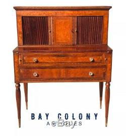 18th C Antique Sheraton Cherry Ladies Secretary / Writing Desk