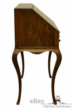 1940's Vintage Antique Burled Walnut 32 Drop Front Secretary Desk