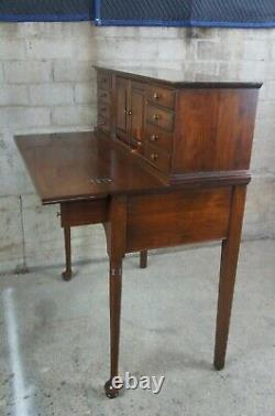 1960s Pennsylvania House Cherry Queen Anne Flip Top Step Back Desk or Secretary