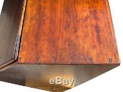 19th C Antique American Hepplewhite Mahogany Slant LID Secretary Desk