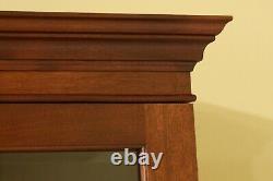31451EC CRAFTIQUE Solid Mahogany 2 pc Secretary Desk Bookcase