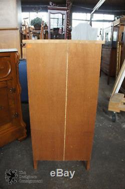 40 Primitive Rustic Country Pine Narrow Secretary Desk 4 Drawers Cabinet