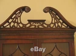 47274EC MANOR HOUSE Made In England Mahogany Secretary Desk