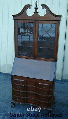 61719 Maddox Mahogany Secretary Desk with Bookcase Top