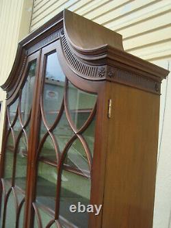 61964 Custom Made WESTING EVANS EGMORE Secretary Desk With Bookcase Top