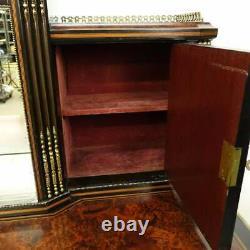 Amazing Quality 19th Century Superb English Victorian Desk Limoes Plaques
