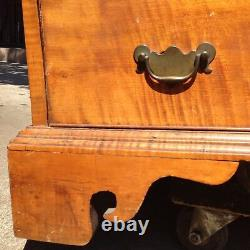 American Chippendale Tiger Maple Slant Front Desk, c. 1770