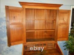 American Empire Primitive Secretary Desk Rustic with Bookcase top