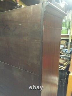 American federal inlaid secretary desk c. 1800 74 h x 34w x 17d appox