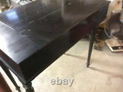 Antique 1800s Flip Top Desk/ Secretary No 2526 Makers Tag On Bottom Good