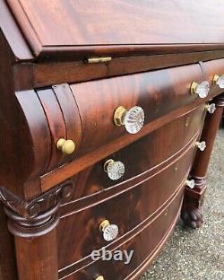 Antique 19th Century Empire Slant Front Secretary Desk GORGEOUS