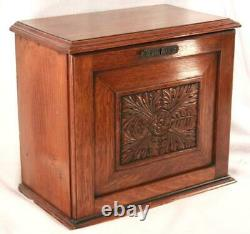 Antique Aesthetic Movement Secretary Desk Organizer, Cabinet, Letter Box Table