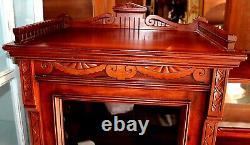 Antique Aesthetic Movement Walnut Side by Side Secretary Bookcase Desk Cupboard