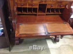 Antique American Empire Butler's/Secretary/Writing Desk and Bookcase
