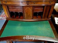 Antique American Federal Style Ladies Secretary Desk Inlaid Mahogany Nice