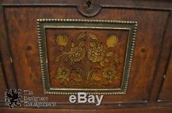Antique Berkey & Gay 1905-1929 Mahogany Secretary Chest Cameo Painted Desk 46.5
