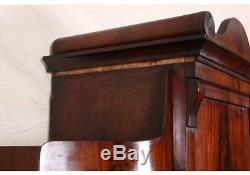 Antique Biedermeier Burl Wood Secretary Desk Cabinet (69980)