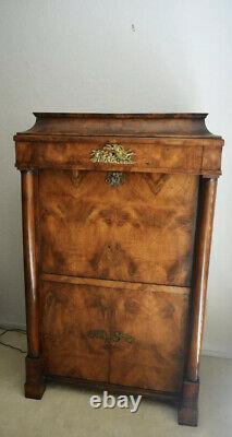 Antique Bierdermeier Secretary Desk 1840s Mahogony Fabulous Brasswork Ex Cond