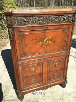 Antique Butlers chest with desk