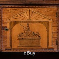 Antique Danish Empire Mahogany Secretary Desk