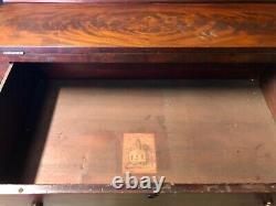 Antique Empire Bookcase Secretary Desk