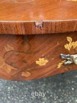 Antique French XV Ladies Writing Desk Secretary Inlaid Ornate Rococo Victorian
