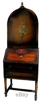 Antique Gimbel Brothers Handpainted Mahogany Secretary