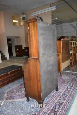 Antique Governor Winthrop Drop Front Secretary Desk, Bookcase