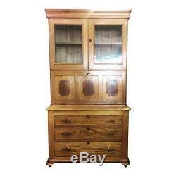 Antique Home Office Desk, Drop Front Secretary Bookcase