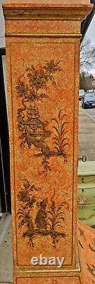 Antique ITALIAN CHINOISERIE Painted Slant Front SECRETARY Venetian Style DESK