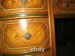 Antique Kidney Shaped Desk Secretary with Painted Design