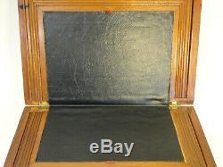 Antique Lap Desk Traveling Portable Secretary Wood Box Zc1-8