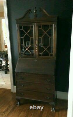 Antique Maddox Mahogany Secretary Desk
