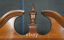 Antique Maddox Walnut Serpentine Secretary Desk Chippendale Bookcase Oxbow 76