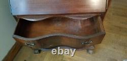 Antique Mahogany Chippendale Ball and Claw Fall Drop Front Secretary Desk