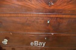 Antique Mahogany Drop Front Secretary Desk, Bedroom Dresser, Dresser