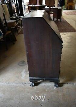 Antique Mahogany Governor Winthrop Drop Front Desk, Secretary