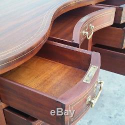 Antique Mahogany Kidney Desk Secretary / Vanity Dresser Table LA Area