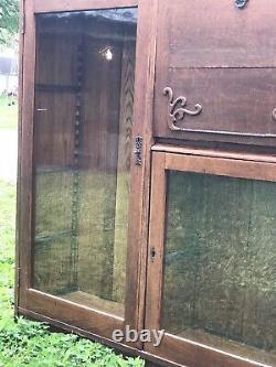 Antique Oak Drop Front Desk Secretary Mint