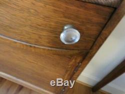 Antique Oak QUARTER-SAWN side by side Secretary Desk with Bookcase