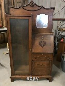 Antique Oak Secretary Desk Side By Side