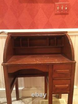 Antique Paris Mfg. Co. No. 424 Childs Roll Top Desk c. 1910-1920