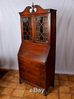 Antique Rockford Cabinet Company Secretary Desk