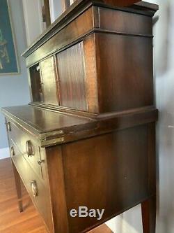 Antique SEYMOUR FEDERAL MAHOGANY SECRETARY DESK TAMBOUR 19C Inlay Wood