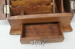 Antique Secretary Organizer Wood Desk Top Drawer
