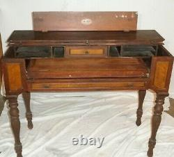 Antique Spinet Mahogany Flip-top Secretary Desk 19th Century, 41x 20 approx
