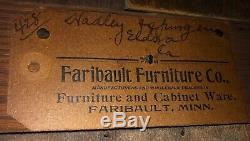 Antique Victorian Era Oak Side by Side Secretary / Desk, Faribault Furniture