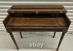 Antique Vintage Small Piano Spinet Writing Desk Secretary with Flip Top WE SHIP