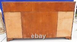 Antique/Vtg Big Rapids NY Ivory Painted Mahogany Sideboard Buffet Secretary Desk